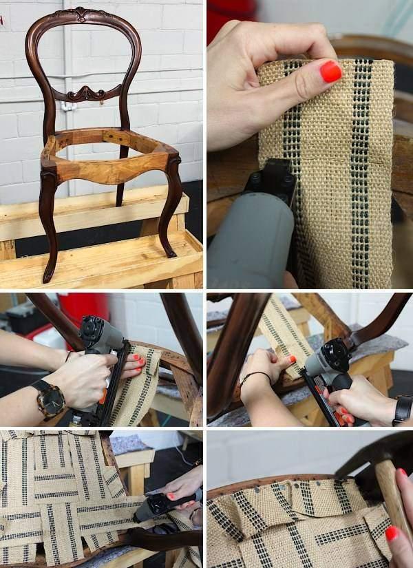 Как правильно перетянуть стул своими руками - компьютерный, кожаный и другие, мастер класс с видео