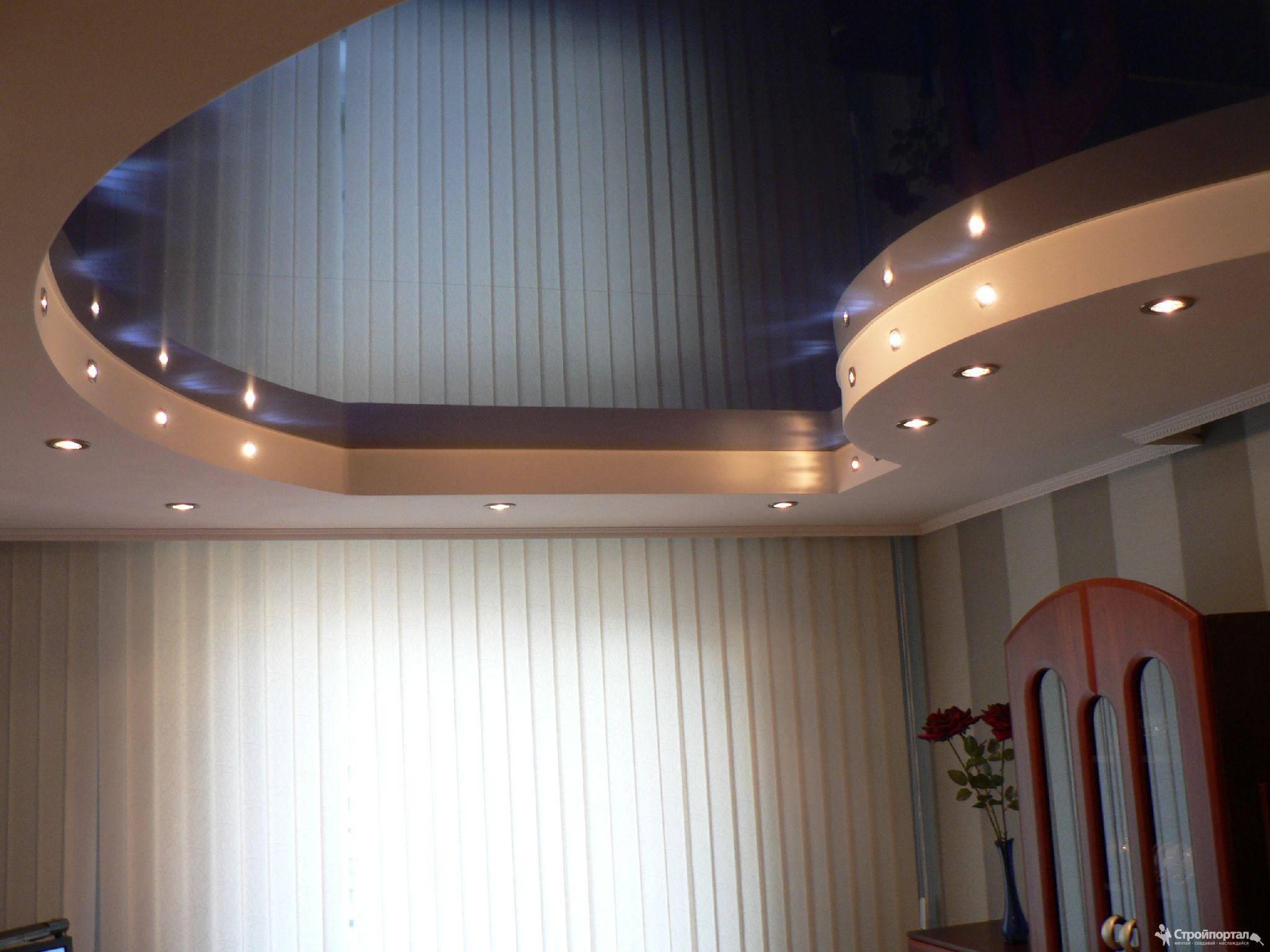 Одноуровневый потолок из гипсокартона (51 фото): одноуровневые конструкции из гкл в интерьере