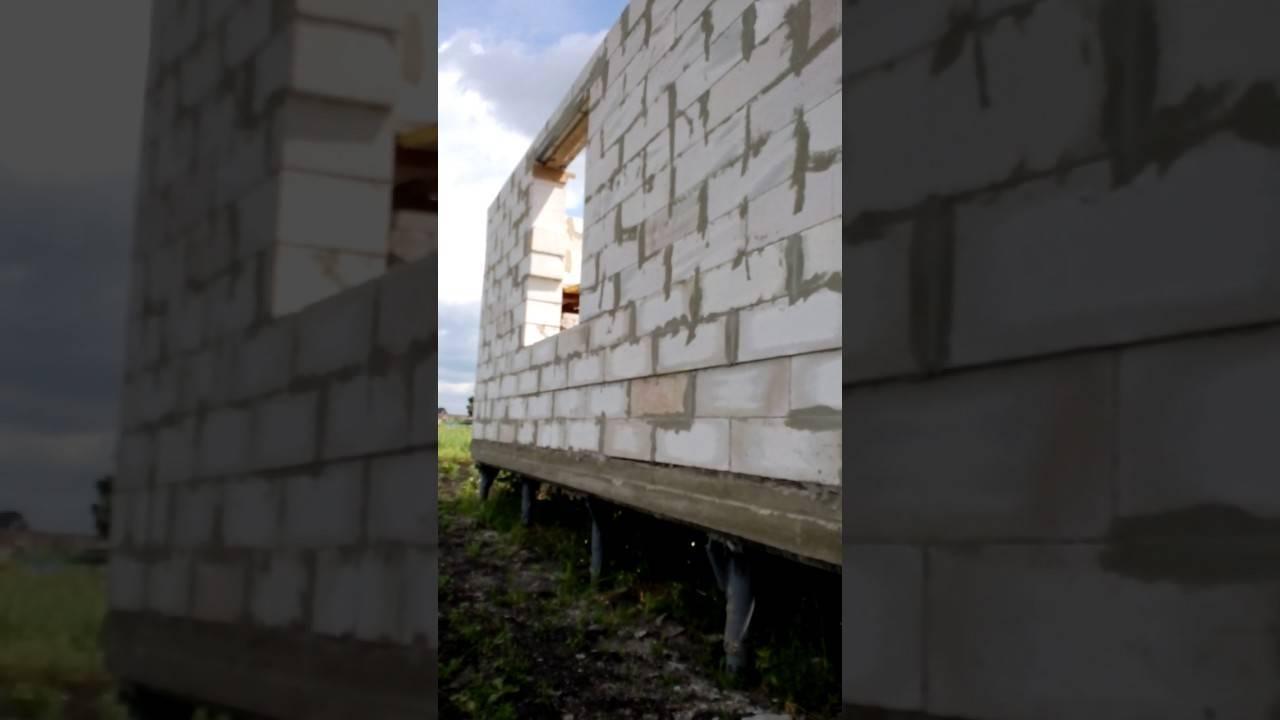 Дом из блоков на свайном фундаменте: строительство из газобетона