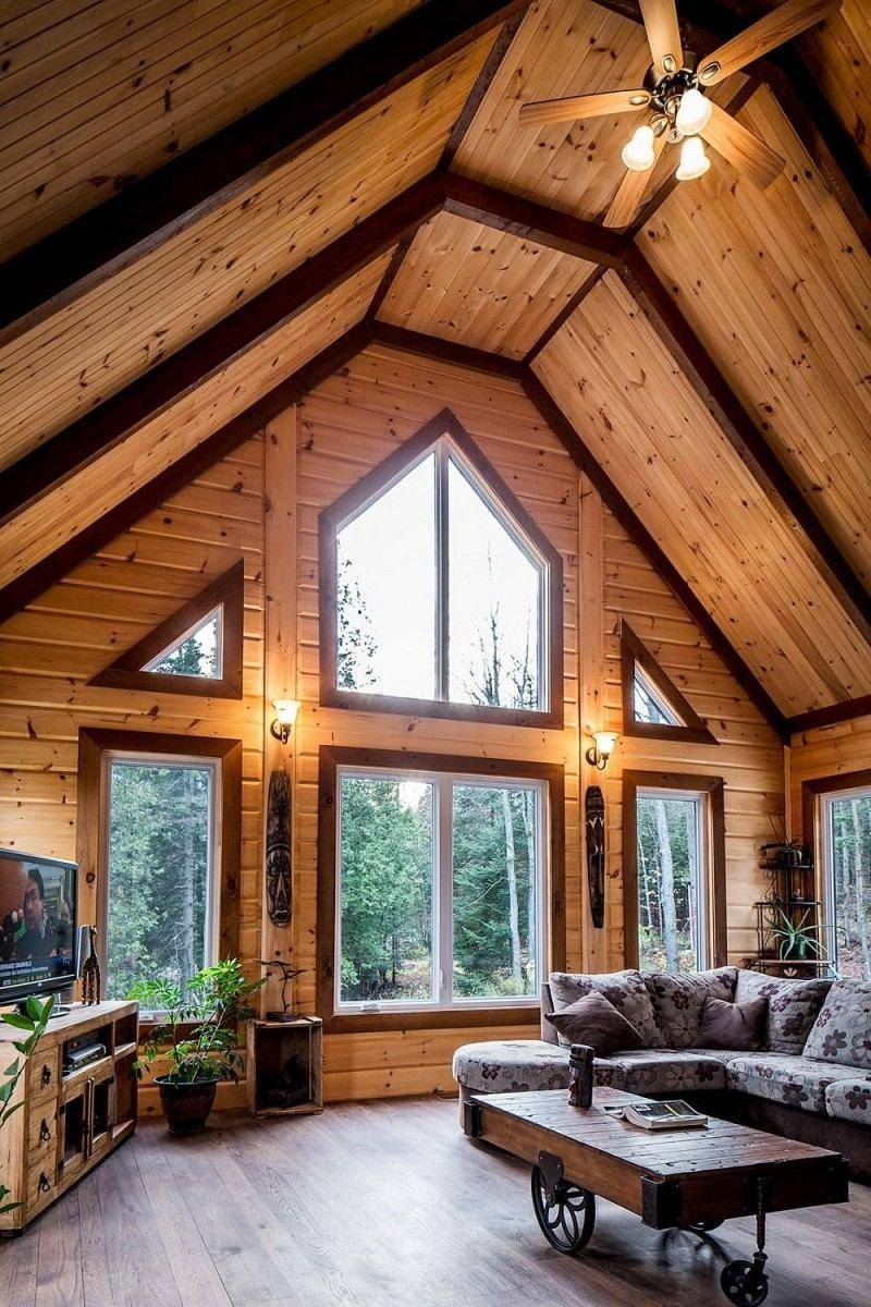Фото отделки красивых деревянных домов внутри и снаружи