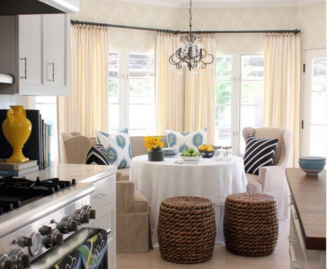 Дизайн штор для кухни: разновидности и рекомендации по выбору