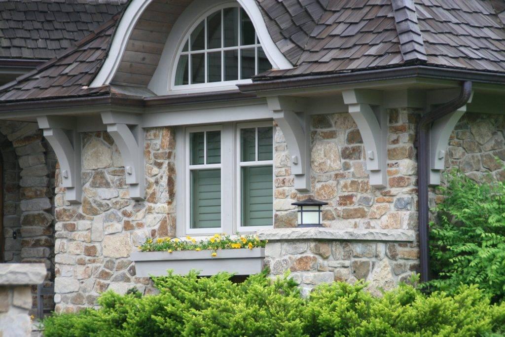 Технология облицовки фасада частного дома натуральным и декоративным камнем