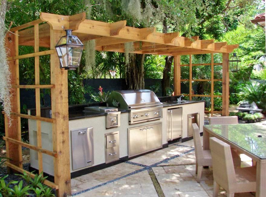 Летняя кухня на даче: 50 удачных проектов (+ фото)