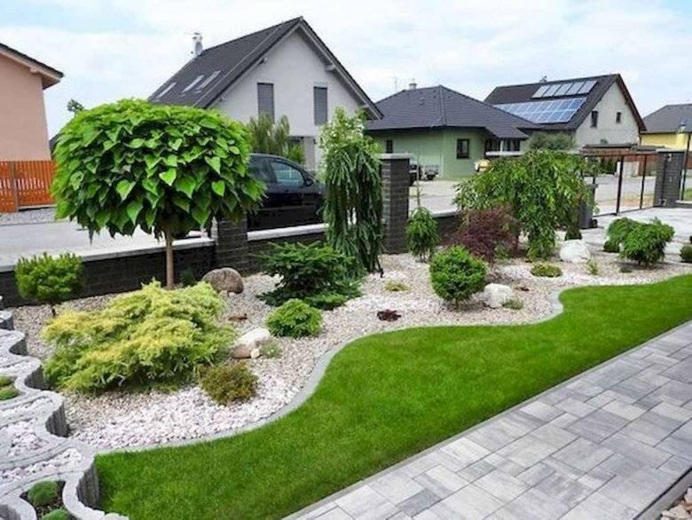 Обустройство двора частного дома - 105 фото идей и инструкции!