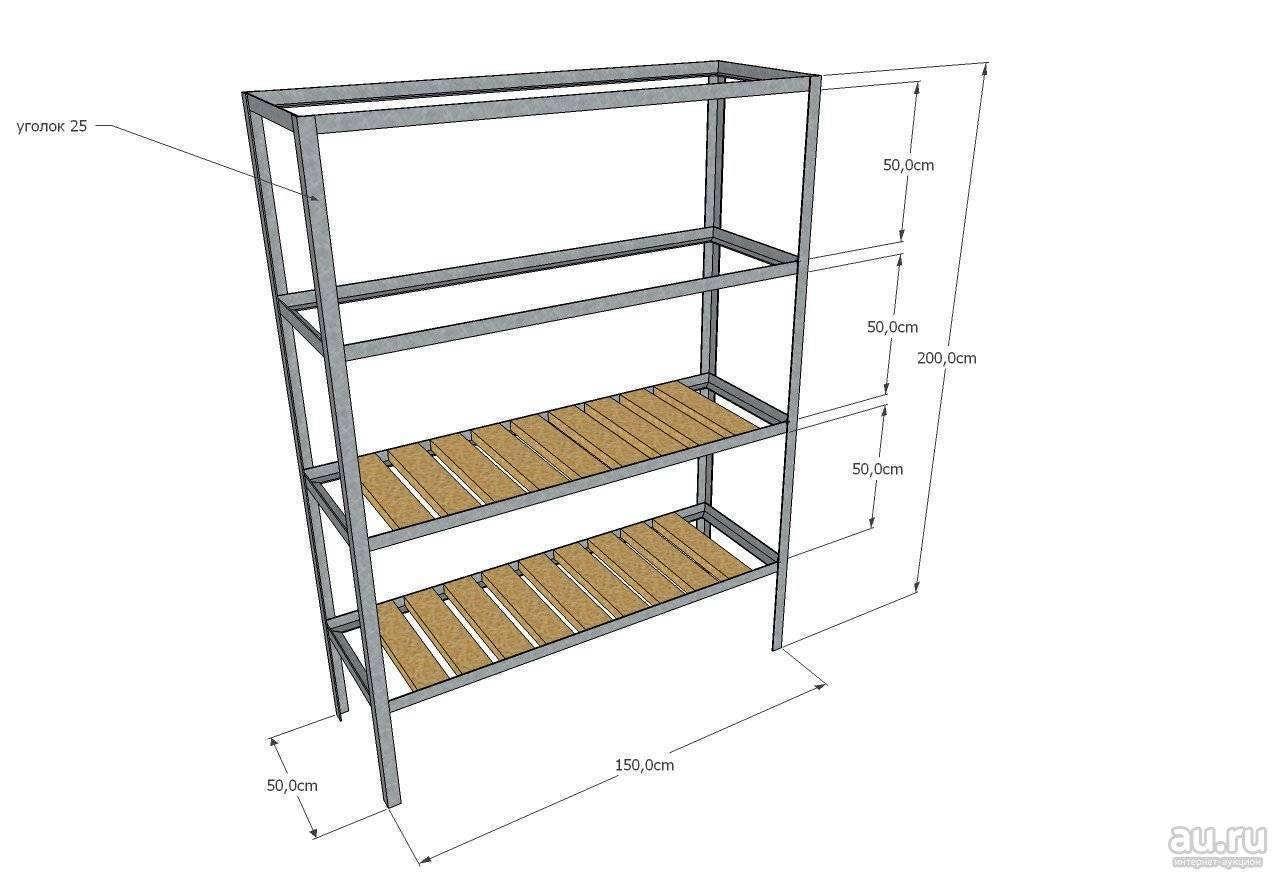 Стеллаж в гараж своими руками: подвесные полки для инструментов, металлические и деревянные конструкции
