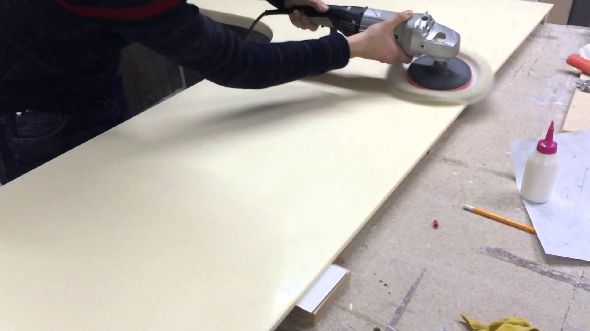 Столешница из искусственного камня своими руками: выбор материала и технология изготовления