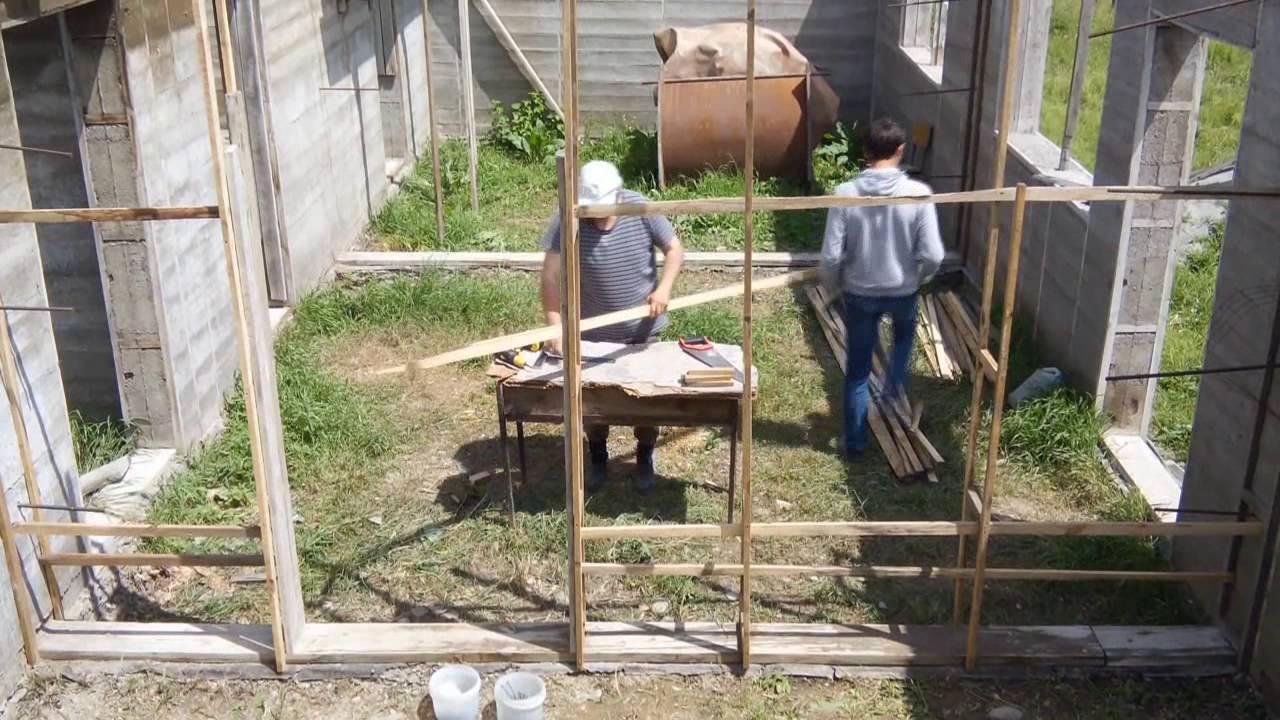 Дом из опилкобетона: технология строительства, пошаговая инструкция
