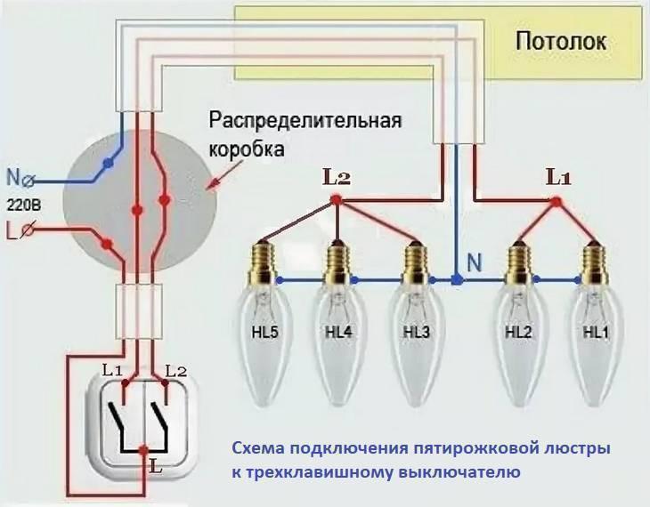 Как подключить люстру с 3 проводами: трехрожковую люстру, как соединить с пятью лампами
