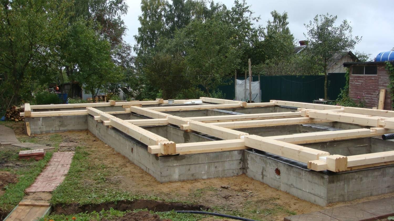 Фундамент для деревянного дома - какой фундамент выбрать для дома из бруса