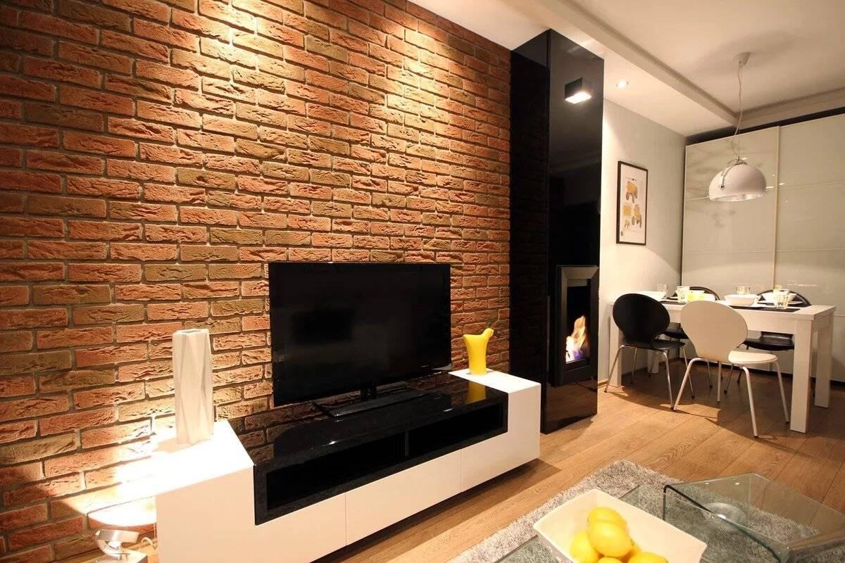 Кирпич в прихожей: 95 фото примеров и видео мастер-класс оформления стен декоративными элементами