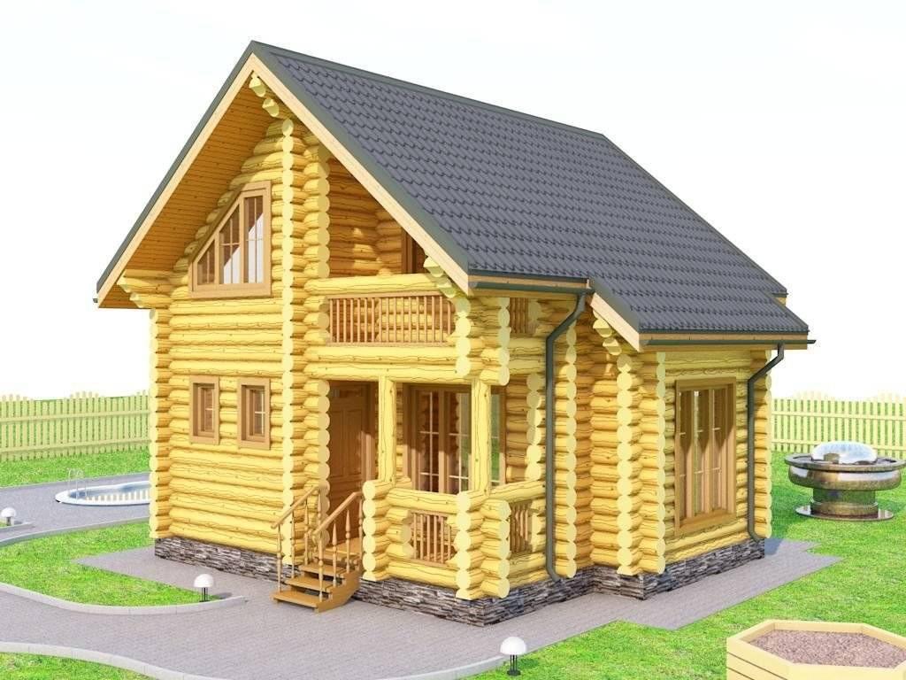 Технология возведения домов из оцилиндрованных бревен