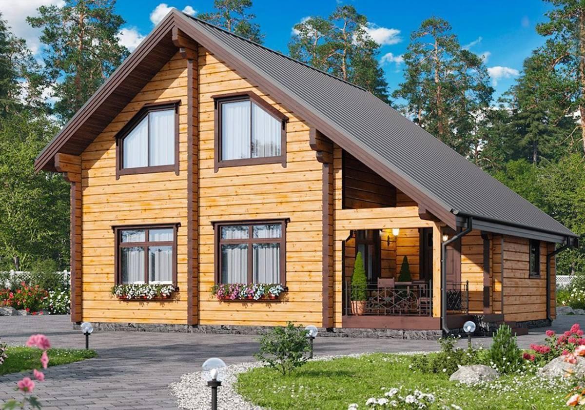 Проекты домов из клееного бруса, цены на строительство в москве
