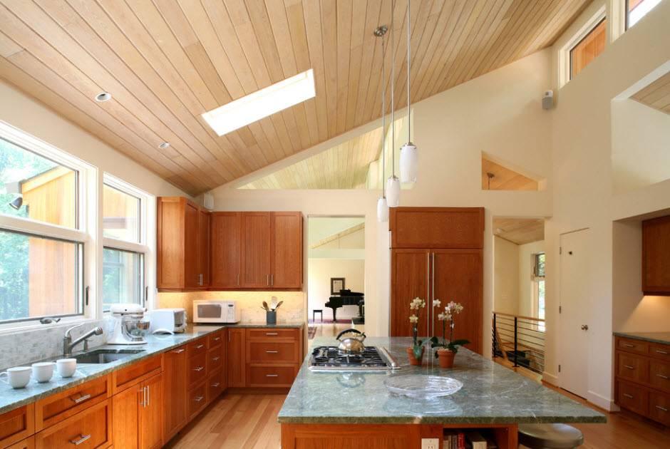 Как зрительно увеличить высоту потолка? (13 фото)