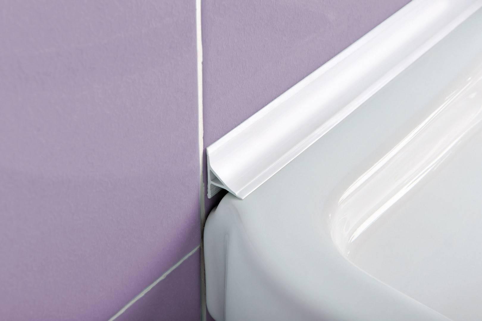 Пластиковый уголок для ванной — виды и установка (фото, видео)
