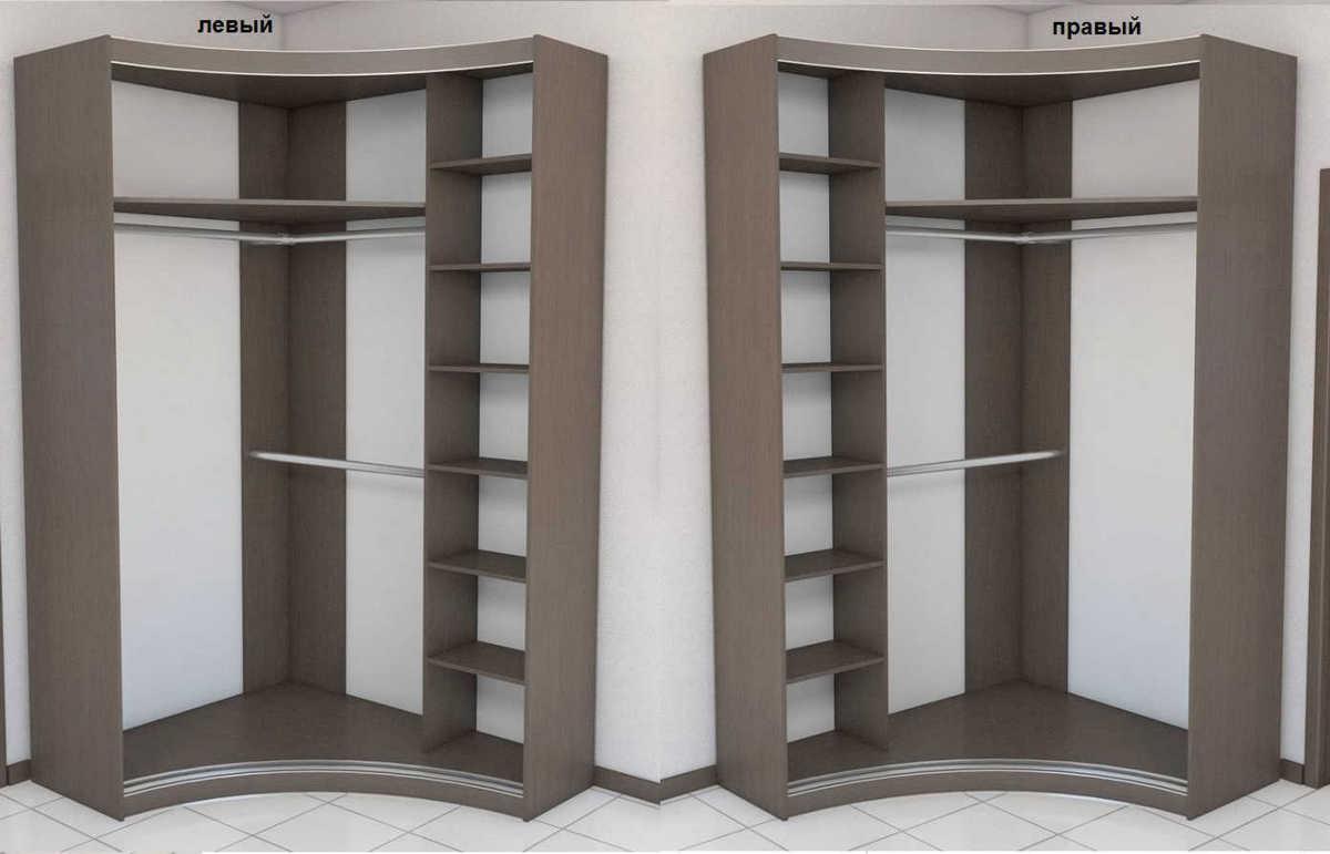 Наполнение угловых шкафов (28 фото): шкаф с ящиками внутри, внутреннее наполнение мебели, дизайн и размеры конструкций