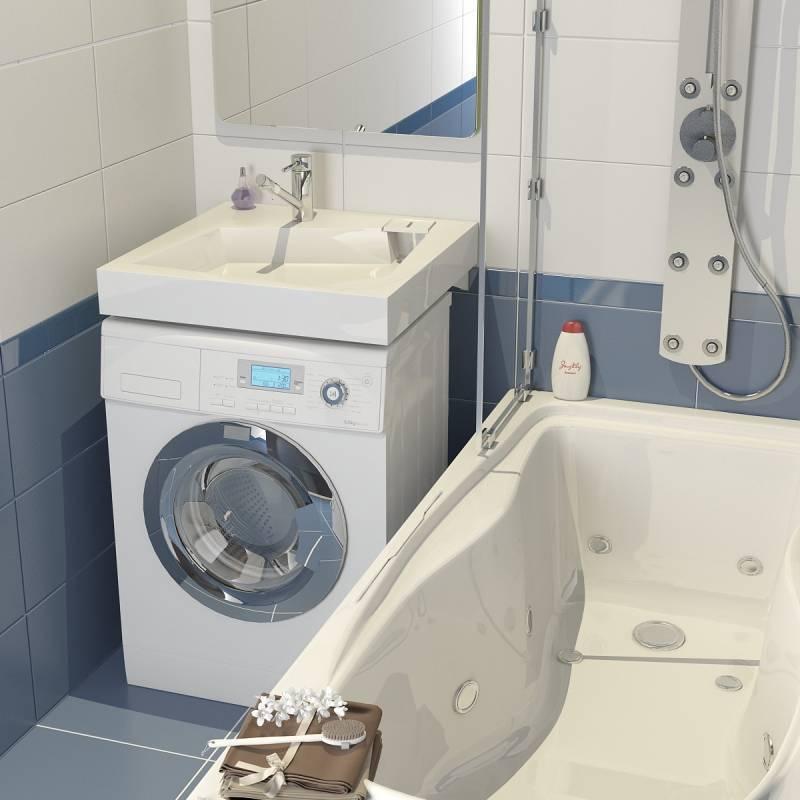 Раковина над стиральной машиной: виды, установка