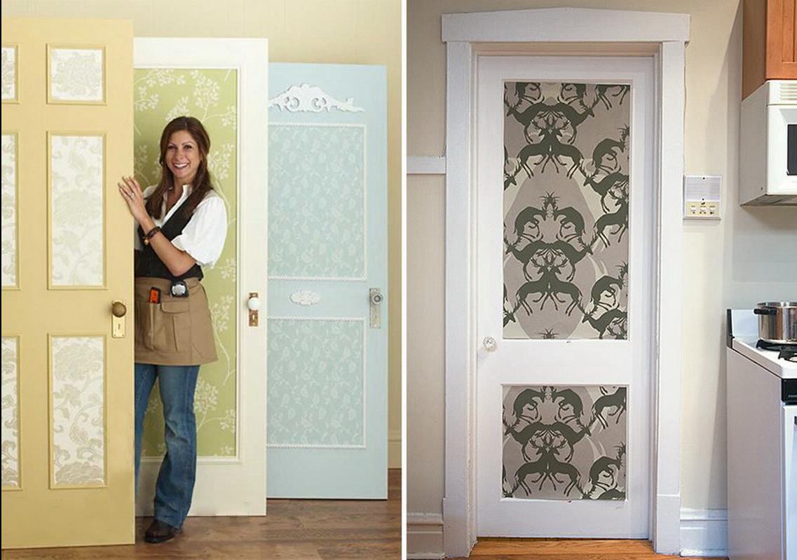 Как декорировать старую дверь своими руками: фото и идеи украшений
