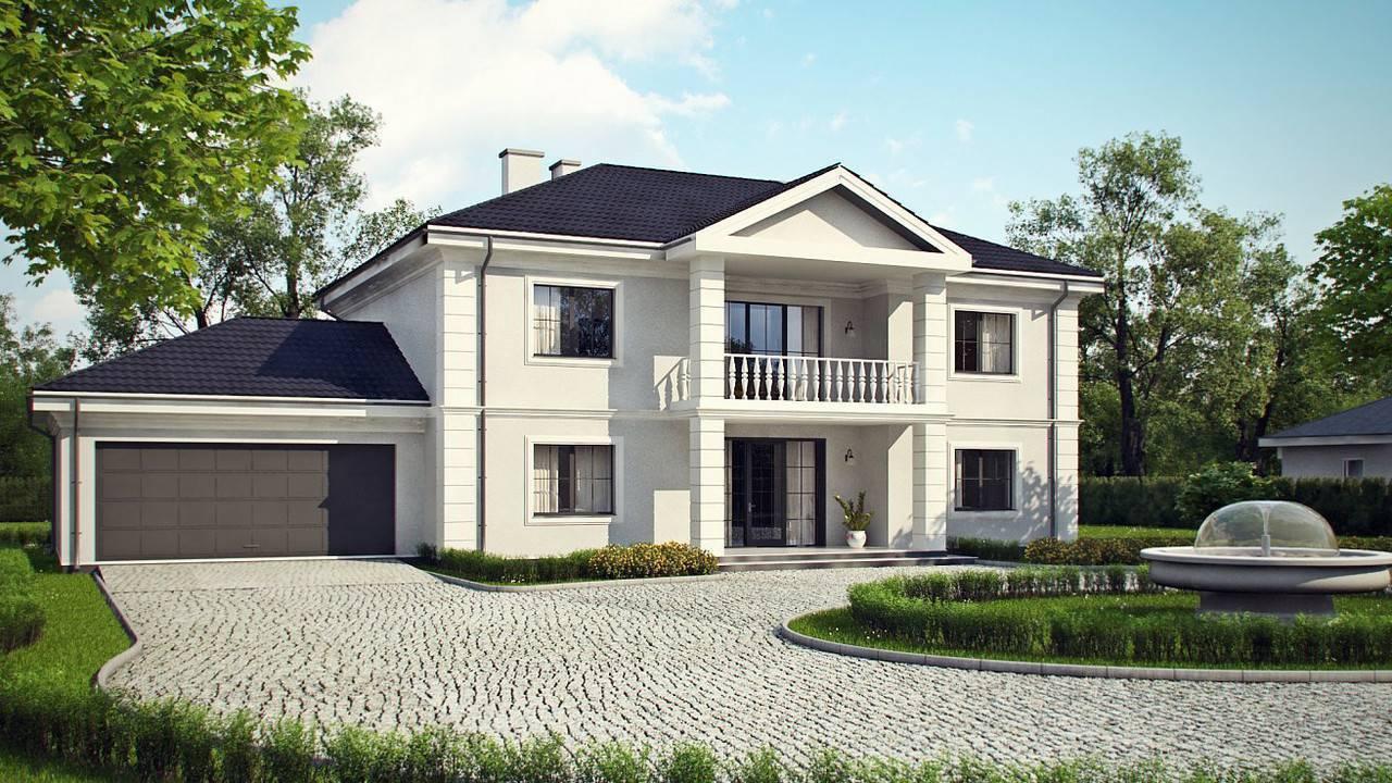Двухэтажный дом из газобетона: строительство коттеджа