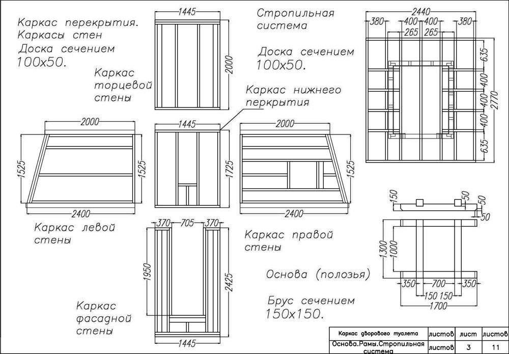 Туалет на даче своими руками (деревянный): чертежи, размеры - как построить?
