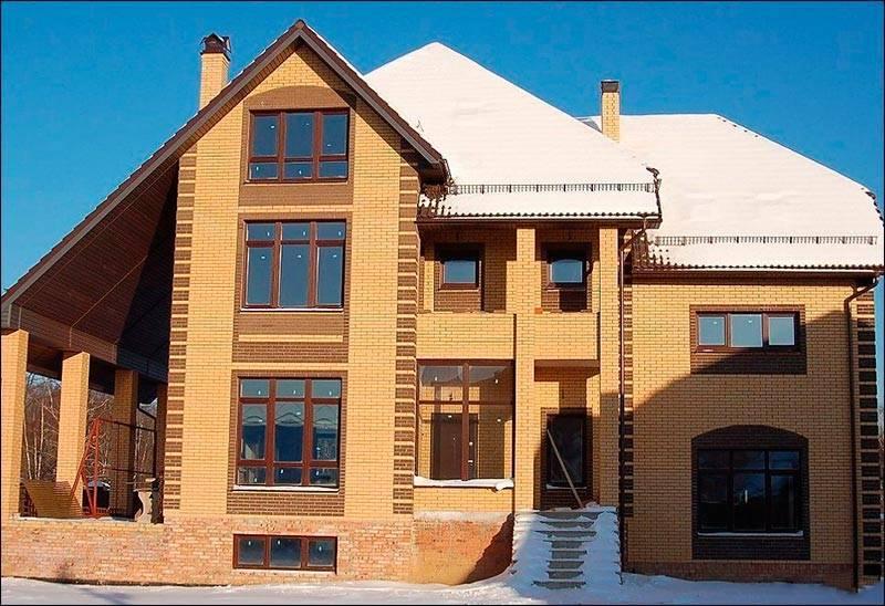 Фото домов из кирпича солома и шоколад