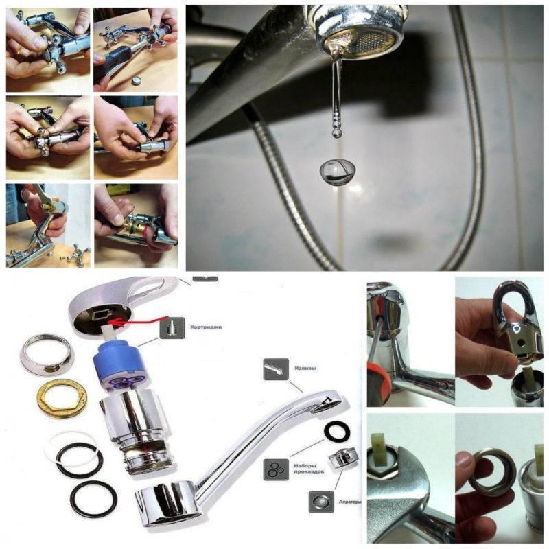 Как починить кран на кухне, в ванной: устраняем капель или течь