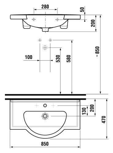 Размеры раковины для ванной комнаты (габариты: ширина, длина, высота и глубина)