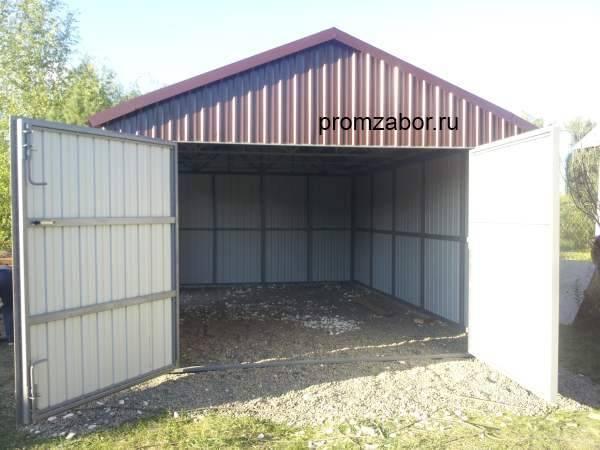 Строительство гаража и из профнастила своими руками. утепление