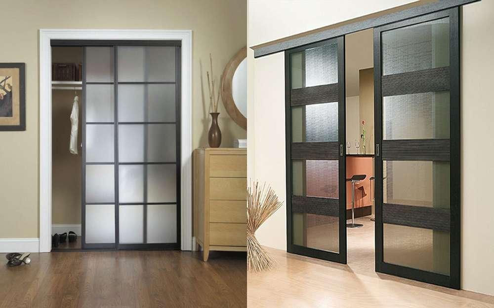 Двери со стеклом – идеальное решение в любом интерьере (54 фото)