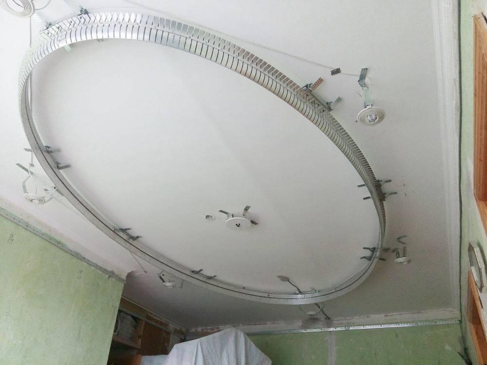 Многоуровневые натяжные потолки и монтаж двухуровневого: цена с подсветкой и как сделать