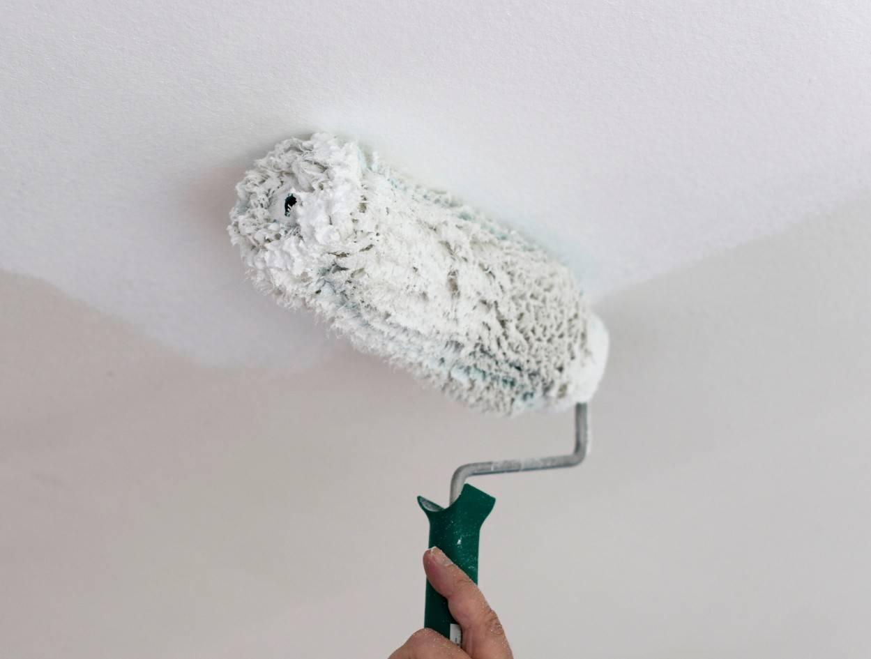 Покраска потолка водоэмульсионной краской по старой: цена м2, подготовка и сколько стоит