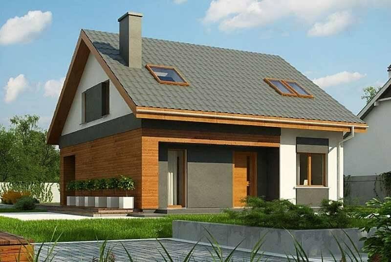 Постройка дачных домов из кирпича с мансардой и террасой