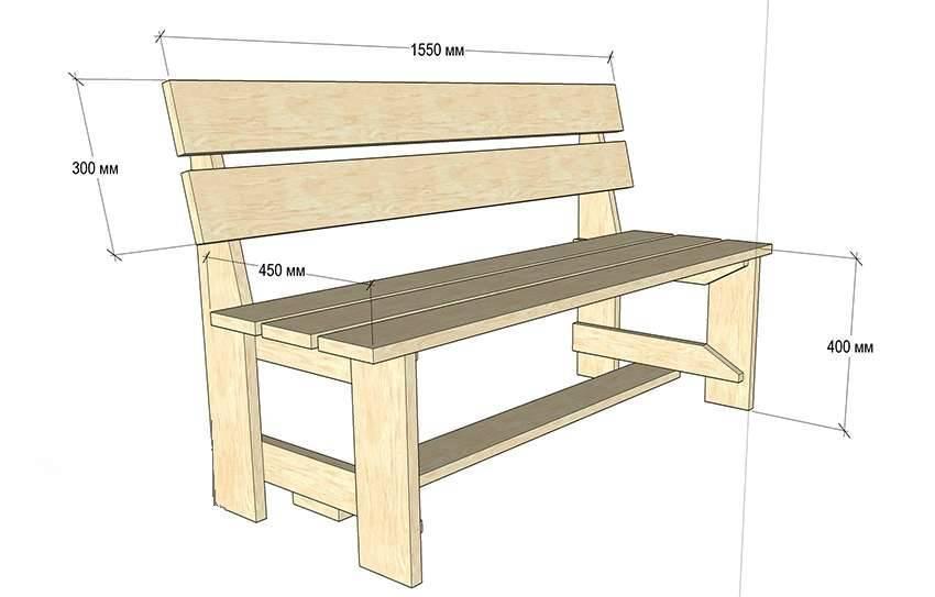 Скамейка своими руками: обзор самых простых моделей и конструкций (95 фото)