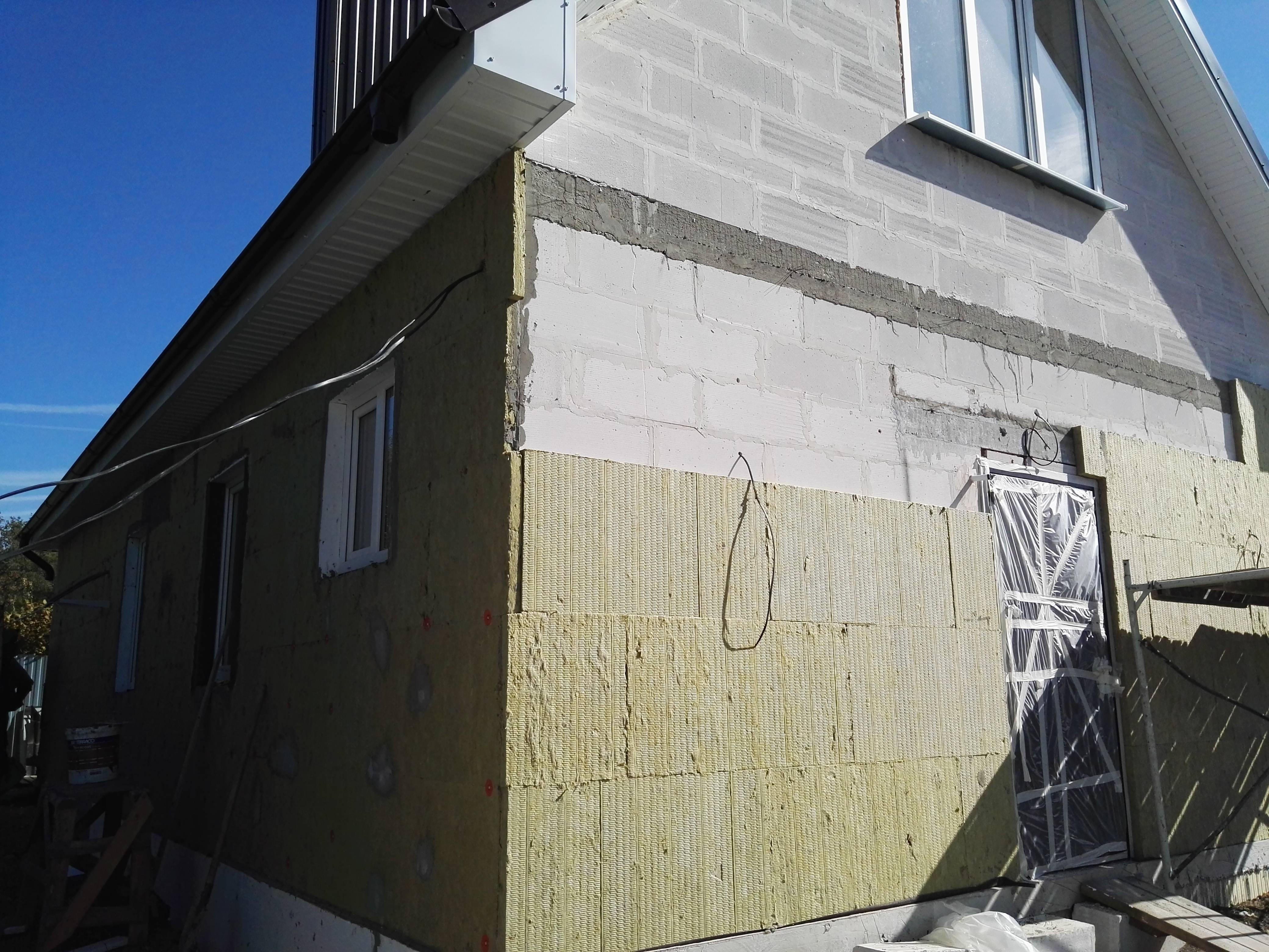 Утепляем фасад дома минеральной ватой под штукатурку