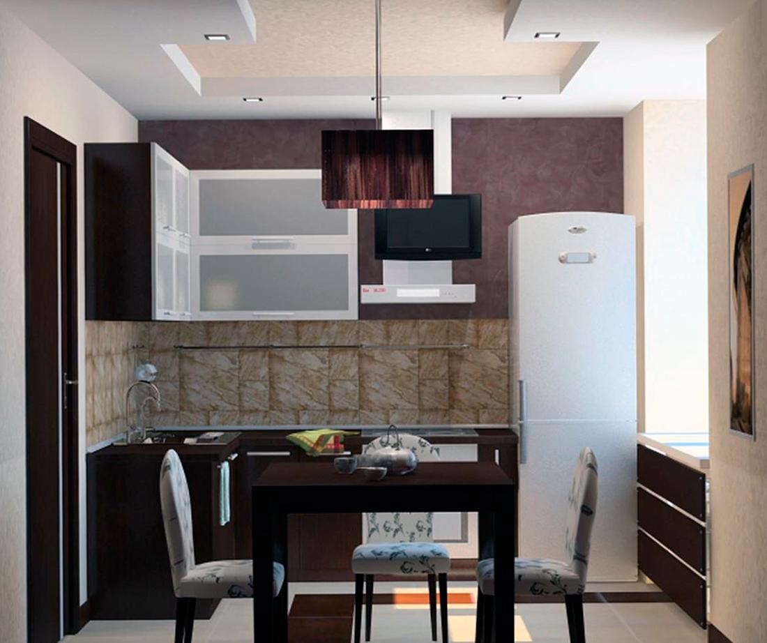 Дизайн кухни 9 кв м – фото интерьеров и планировок кухонь площадью 9 квадратных метров с холодильником