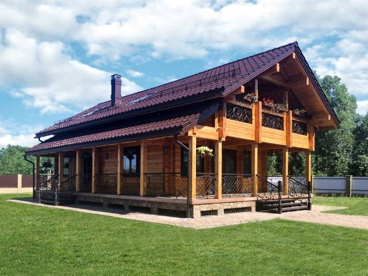 Дом из бруса в стиле шале: особенности
