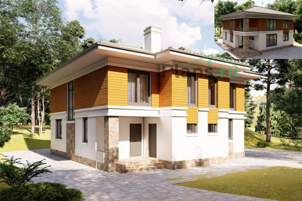 Проекты двухэтажных домов из кирпича: расчет цены и фото - домомастер