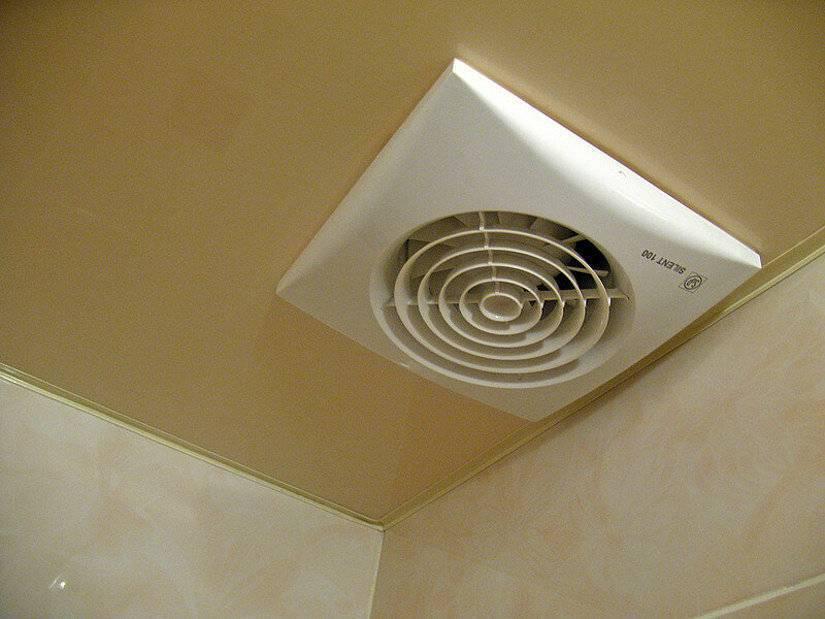 Потолочный вентилятор вытяжной для ванной комнаты