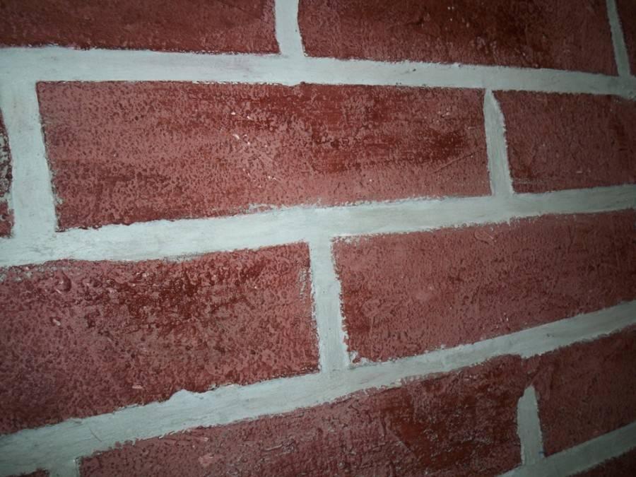 Как своими руками сделать имитацию кирпичной стены в интерьере