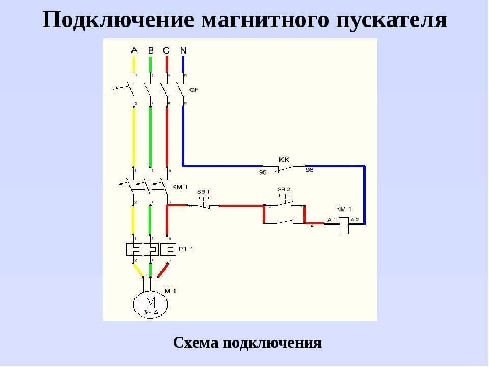 Схема подключения реверсивного магнитного пускателя | для дома, для семьи