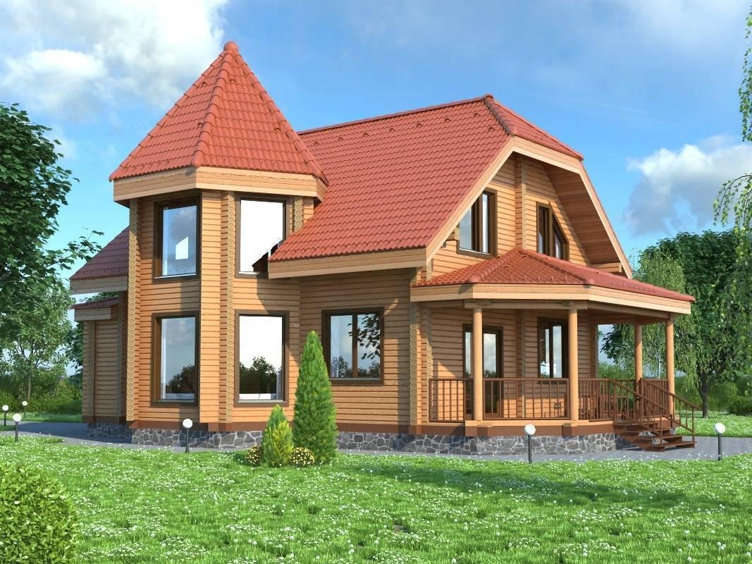 ????дома из бруса с эркером: особенности конструкции, проекты, материалы - блог о строительстве
