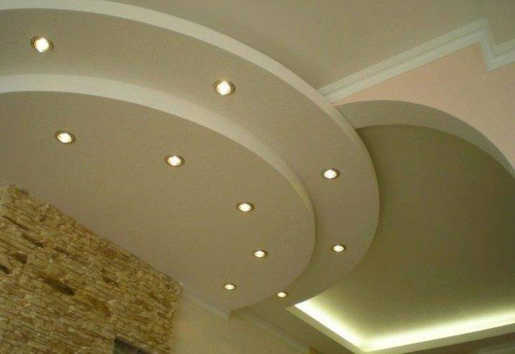 Потолки из гипсокартона для кухни (25 фото интерерьеров)