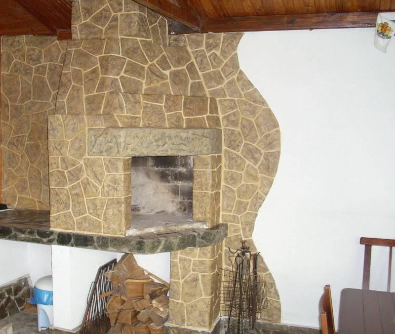 Отделка камина: штукатурка, облицовка плиткой, камнем