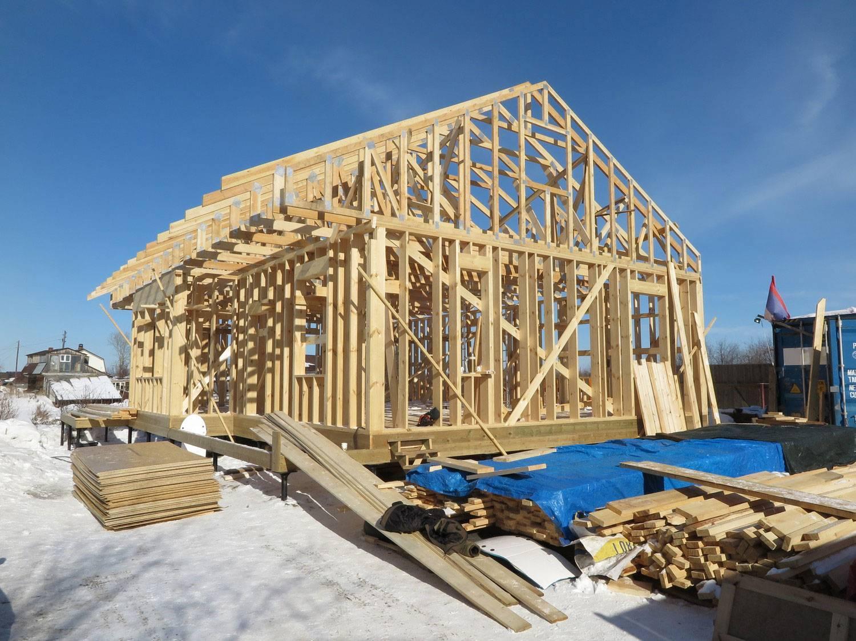 Зимнее строительство каркасных домов | к-дом