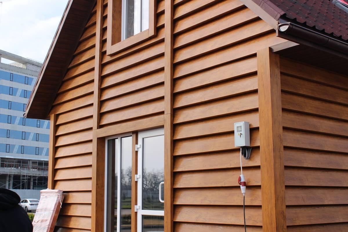 Отделка фасада необрезной доской – киржач строй