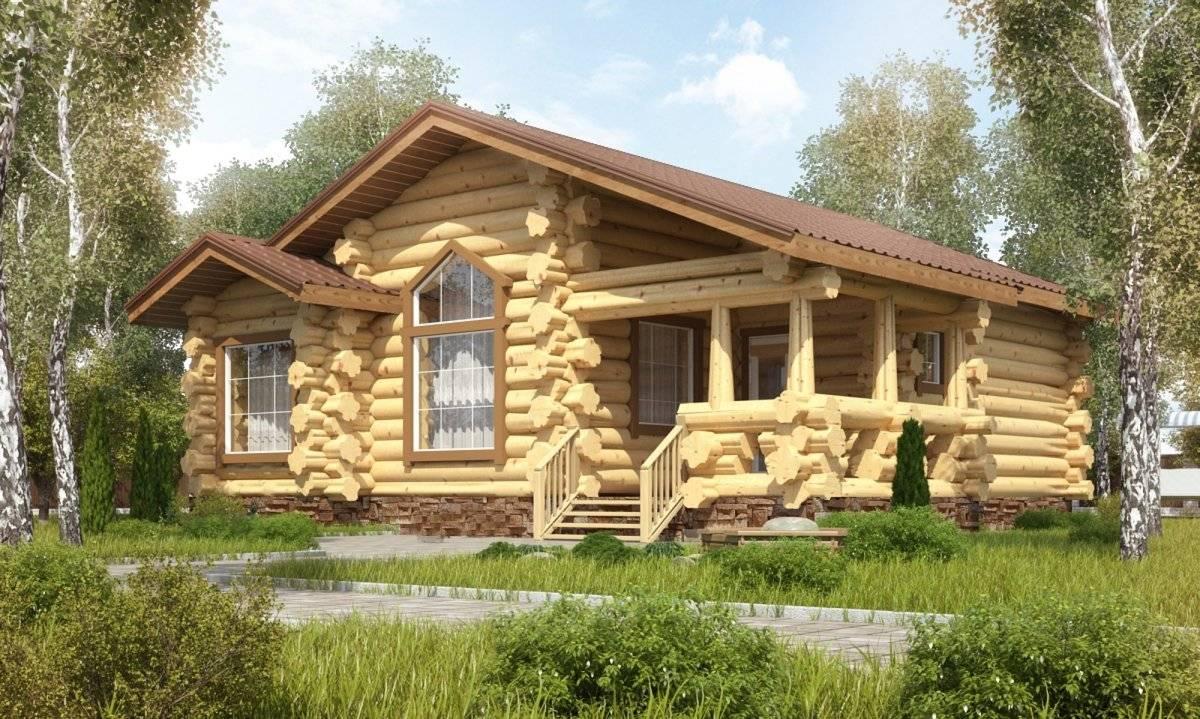 Дом из рубленного бревна, изготовление сруба.