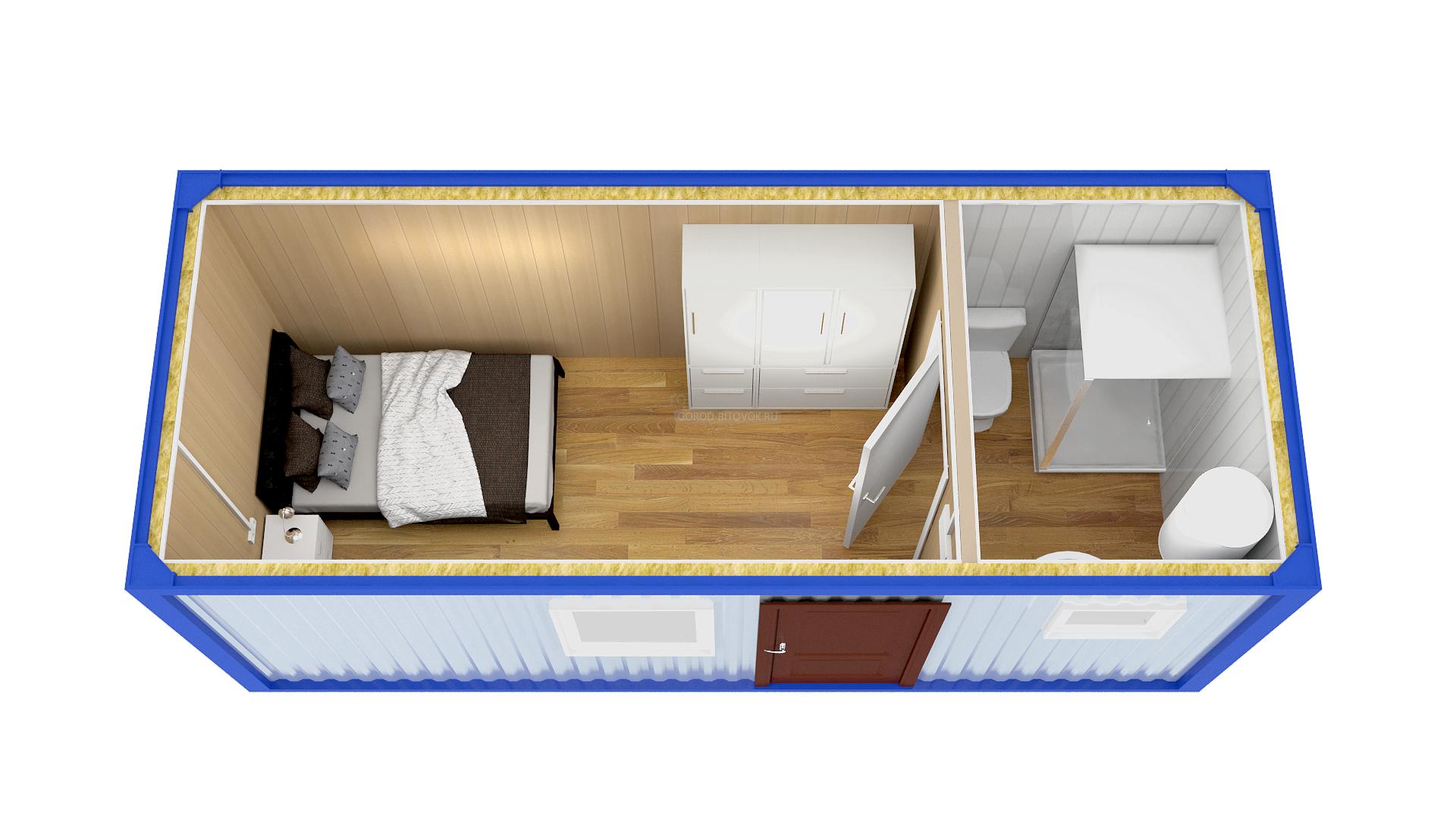 Дачные бытовки с туалетом и душем: обустройство зимних бытовок с санузлом для дачи, угловые бытовки с душевой и другие планировки