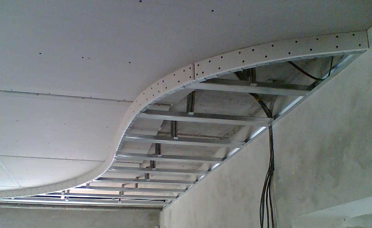 Как сделать двухуровневый потолок из гипсокартона с подсветкой?