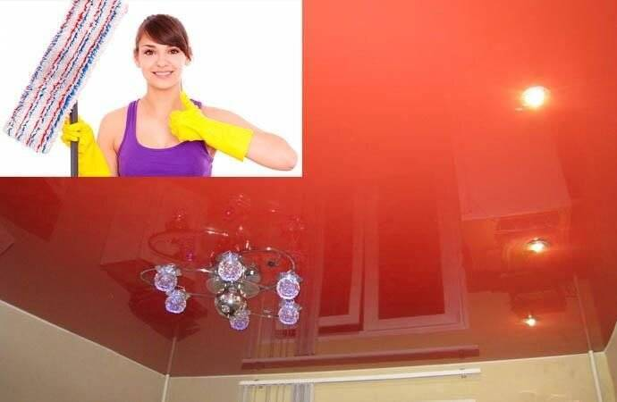 Ткань и полимер: как легко помыть натяжные потолки