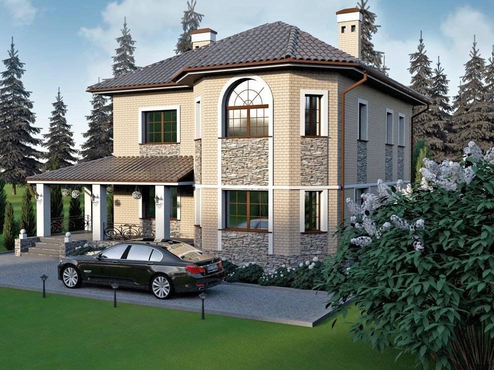 Проекты домов и коттеджей: фото загородного дома и планировка