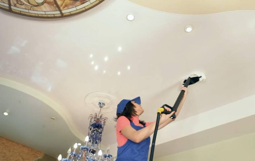 Уход за глянцевыми и матовыми натяжными потолками: как чистить и мыть